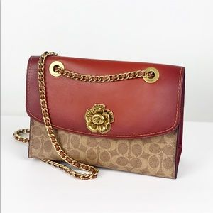 Coach Tea Rose Signature Canvas Parker Shoulder